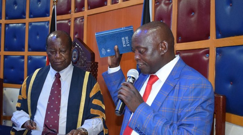 Hon. Musee Mati takes oath of office
